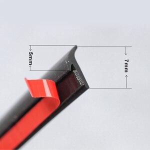 Image 3 - Universal Car Gomma Striscia Di Tenuta Piccolo Inclinato T Tipo di Auto Guarnizione Sigillante per le Labbra Paraurti Auto Fender Flare Arch trim