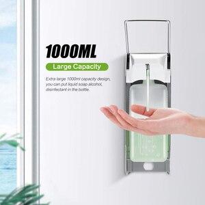 Image 2 - Elbow Hand Sanitizer Soap Dispenser Aluminum Disinfectant Soap Dispensers Wall 1000ml Hand Spray Alcohol Hospital Medical