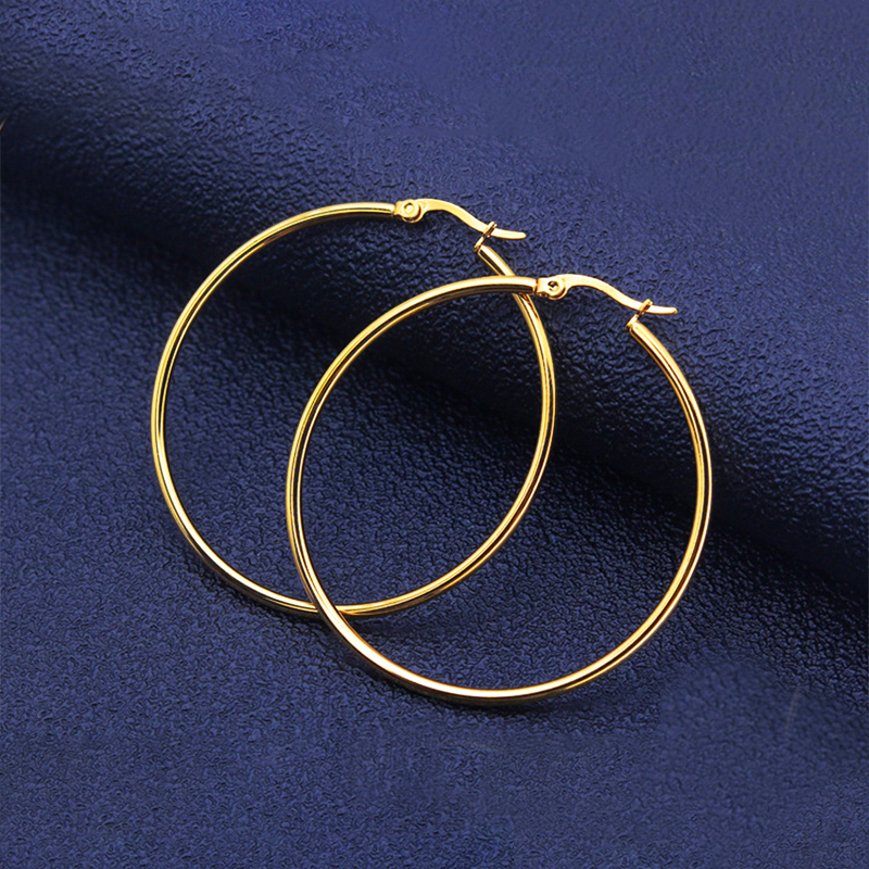 Stainless Steel Small Medium Large  Hoop Earring For Women Gold Silver Color  Wholesale Ear Accessories Fashion  Jewelry