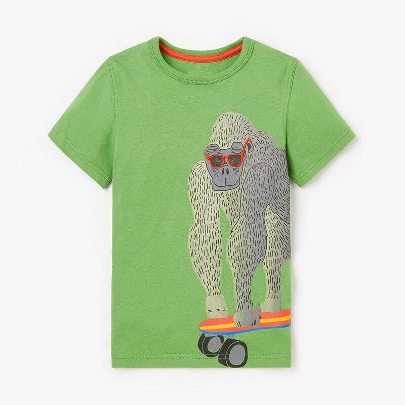 Little maven children 2021 summer new baby boys clothes animal print brand short sleeve t shirt boy tee tops 6