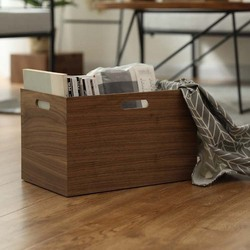 Wooden storage box creative wooden large capacity book storage file storage box for home office