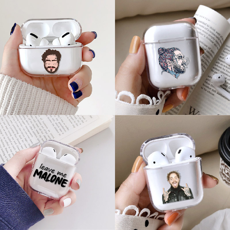 Post Malone Sunflower Circles Earphone Case For Apple iPhone Charging Box For AirPods Pro Hard Clear Protective Accessories