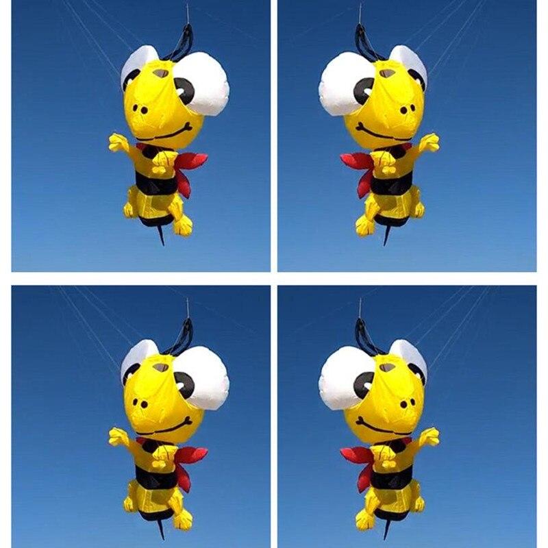 Livraison gratuite 3D abeille cerf-volant pendentif grand doux cerf-volant mouche nylon cerf-volant chaussette à vent weifang grand cerf-volant bobine albatros usine jouets de plein air
