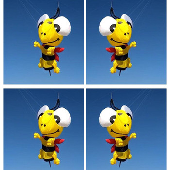 Free shipping 3D bee kite pendant large soft kite fly nylon kite windsock weifang big kite reel albatross factory outdoor toys фото