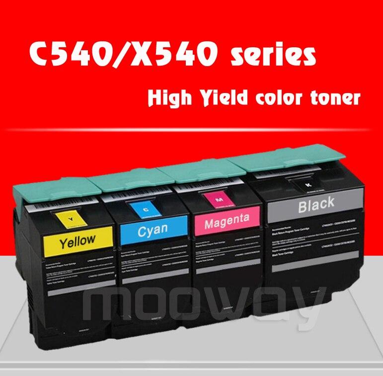 Cartouche de toner Compatible pour Lexmark C540 C543 C544 C546 X543 X544 X546 X548 couleur cartouche de toner