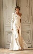 2020 suknie ślubne bez rękawów satynowe suknie ślubne Vestidos de Novia Tulle HA135