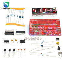 Medidor de frecuencia con oscilador Digital LED, de cristal, de 1Hz a 50MHz, Kit DIY, medidor de frecuencia con resolución de 5 dígitos