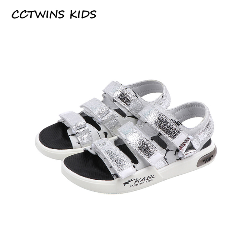 CCTWINS Kids Shoes 2020 Summer Baby Girls Fashion Beach Sandals Children Genuine Leather Shoes Boys Brand Soft Flat BS430