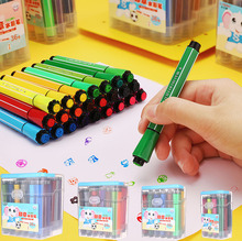 12/18/24/36 Colors Marker Pens Watercolor Seal Brush Pen Drawing Art Supplies Back to School markery Stationery Kids Gifts 04374 12 18 24 pcs set washable highlighter pen marker for school kids gift drawing paint diy doodle color stamp seal pens stationery