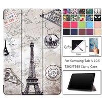 Модный умный флип-чехол для Samsung Galaxy Tab A 10,5 2018 SM-T590 SM-T595 T590 T595, высококачественный чехол для Samsung Tab A 10,5