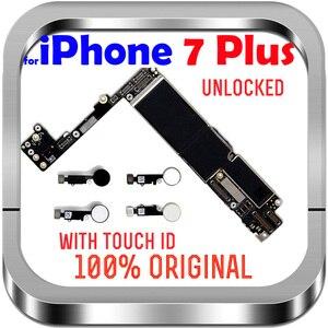 Image 1 - Разблокированная материнская плата без сенсорного распознавания отпечатков пальцев для Apple 7 логическая плата с чипами 32 Гб 128 ГБ 256 ГБ для материнской платы iPhone 7 Plus