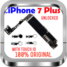 Unlocked anakart ile dokunmatik kimlik parmak izi Apple 7 için mantık kurulu cips 32G 128G 256GB iPhone 7 için artı anakart