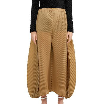 Elastic draped draped pants women plus size gold loose wide leg pants 2020 spring new chic trousers фото