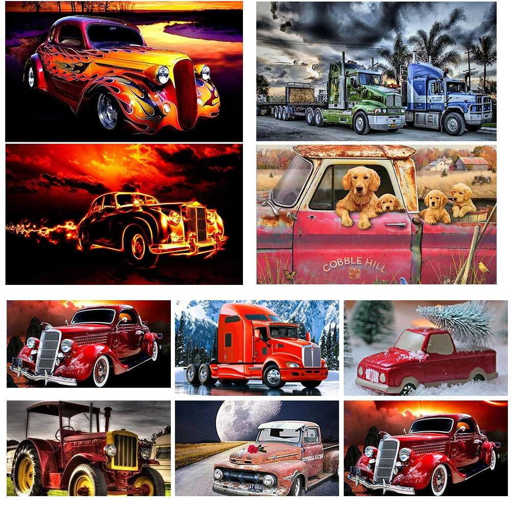 5D DIY Full Drill Diamond Painting Embroidery Art Craft Home Decor Cars Trucks