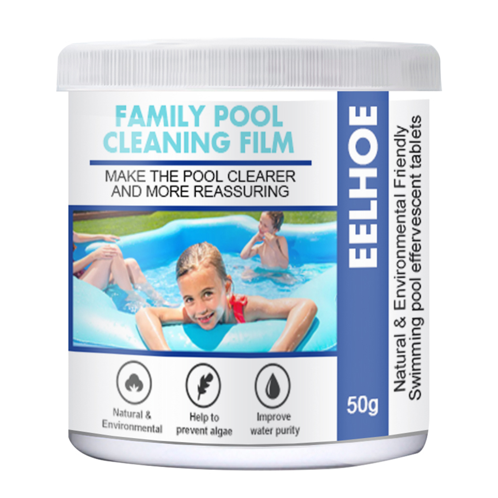 Family Pool Cleaning Film Effectively Purify Water Clear Pool Foaming Cleaners Swimming Pool Detergent Home Cleaner