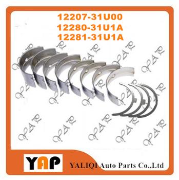 STD główne łożysko podkładka oporowe dla NISSAN VQ35DE VQ30DE VQ25DE VQ25HR VQ23DE VQ20 12207-31U00 12280-31U1A 12281-31U1A 1999-2015 tanie i dobre opinie EAPENERGY Mechanizm korbowy 12cm STD 12207-31U00 12280-31U1A 12281-31U1A 6 cylinder 16cm Aluminum alloy 2000cc 2300cc 2500cc 3000cc