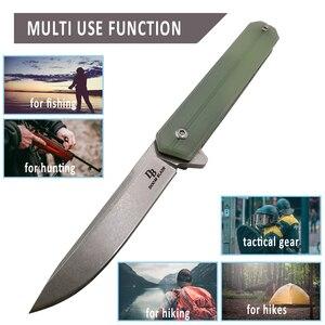 Image 5 - Cuchillo plegable con rodamiento de bolas, hoja 100% D2, mango G10, para acampar al aire libre, de bolsillo, caza, pesca, EDC, herramientas de mano