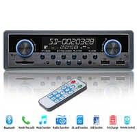 Autoradio Coche Radio Coche Aux FM bluetooth estéreo de Audio MP3 receptor USB Radios Para Auto electrónica 1 din Coche Multimedia playe