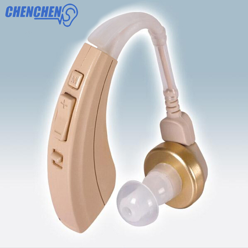 Behind The Ear Hearing Aid For Elderly Loss BTE Sound Amplifier Care Tools Adjustable