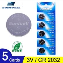 5pcs 210mAh Cell Coin Button Batteries CR2032 DL2032 CR 2032 KCR2032 5004LC ECR2032  3V Lithium Battery For Watch Toys LED Light