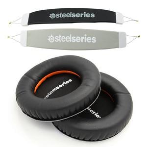 Image 2 - For Steelseries Siberia V1 V2 V3 Headset Sponge Cushion Earbud Cover Headphone Replacement Foam Earpads +headband  Pads