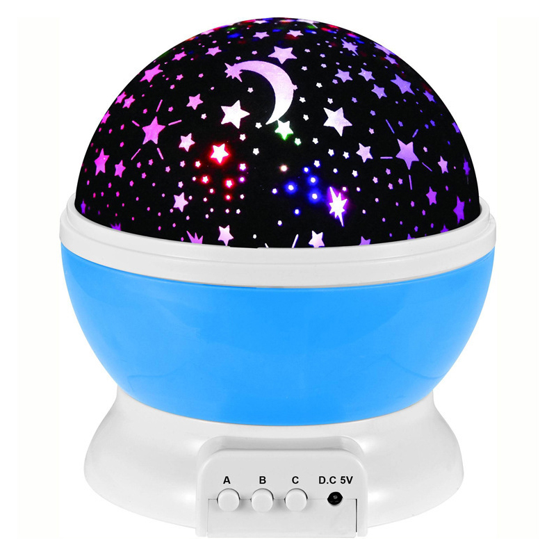 Star Projector Light Moon Lamp Starry Night Rechargeable USB LED For Child Bedroom Party Lamps