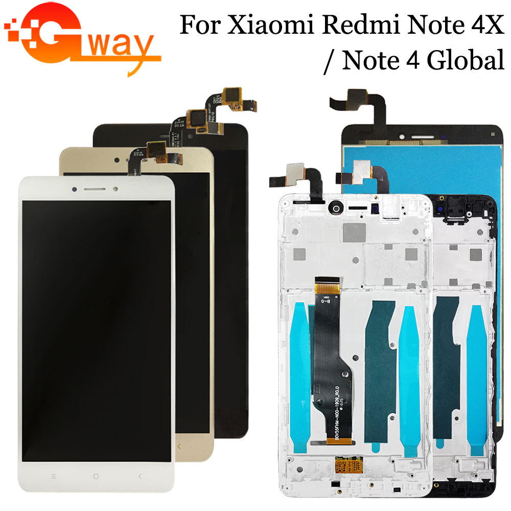 AAA Quality For Xiaomi <font><b>Redmi</b></font> <font><b>Note</b></font> 4X LCD Display + Touch <font><b>Screen</b></font> For <font><b>Redmi</b></font> <font><b>Note</b></font> <font><b>4</b></font> Global Version LCD+Frame For Snapdragon 625 image