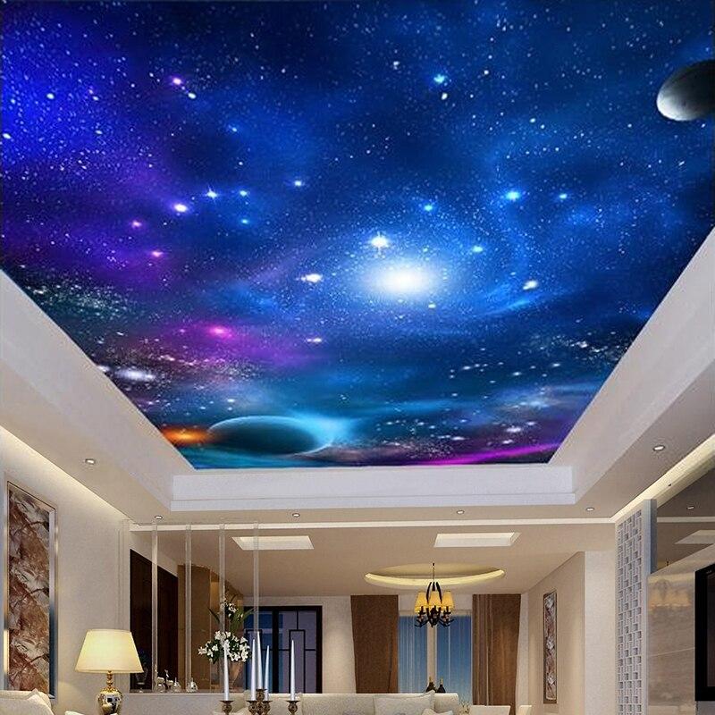 3D фотообои на заказ, потолочные обои для гостиной, спальни, потолочные обои на крышу, домашний декор