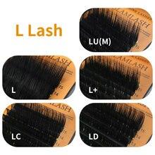 Glamlash 16 linhas/caixa 7 15 15mm l/l +/lc/ld/lu (m) onda mix vison cílios extensão individual cílios macios ferramenta de maquiagem