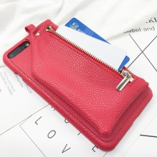 Zipper Coin Card Purse Lychee leather Cases For iPhone XR X XS Max 6 6S 7 8 Plus Girl Cute Fashion Phone Case NEW