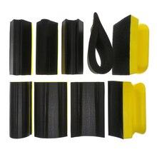 9PC Set Sanding Pad Shaped Hand Sanding Block Base Sanding Disc Grinding Sponge For Hook & Loop Sandpaper Abrasive Tools