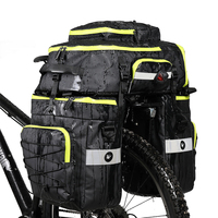 75L Motorbike Rear Seat Trunk Bag 3 in 1 Larger Capacity Bicycle Pannier Waterproof Two Side Bags Tail Cycling Luggage Carrier