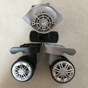 Accesorios para equipaje, cubierta de carrito, ruedas, doble fila, ruedas de goma de repuesto