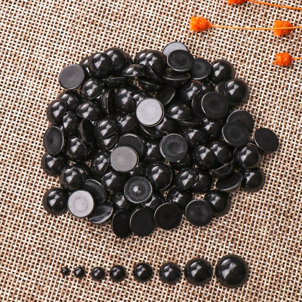 Черные пластиковые безопасные глаза для медведя, куклы, животных, марионетки, поделки своими руками, детские игрушки, 100 шт., 3-12 мм