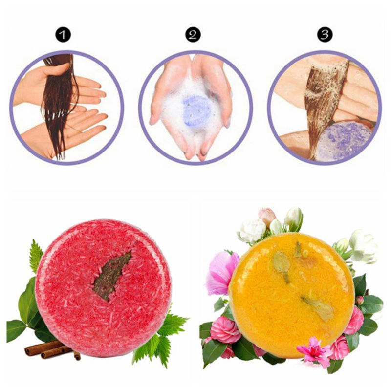 Shampoo Bar Soap Hair Growth Solid  Conditioner Bath Bar Soap For Cleaning ( Jasmine & Lavender & Mint&Cinnamon )