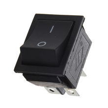 цена на AC 250V 16A 4 Pin ON/OFF I/O 2 Position DPST Snap in Boat Rocker Switch 28x21mm