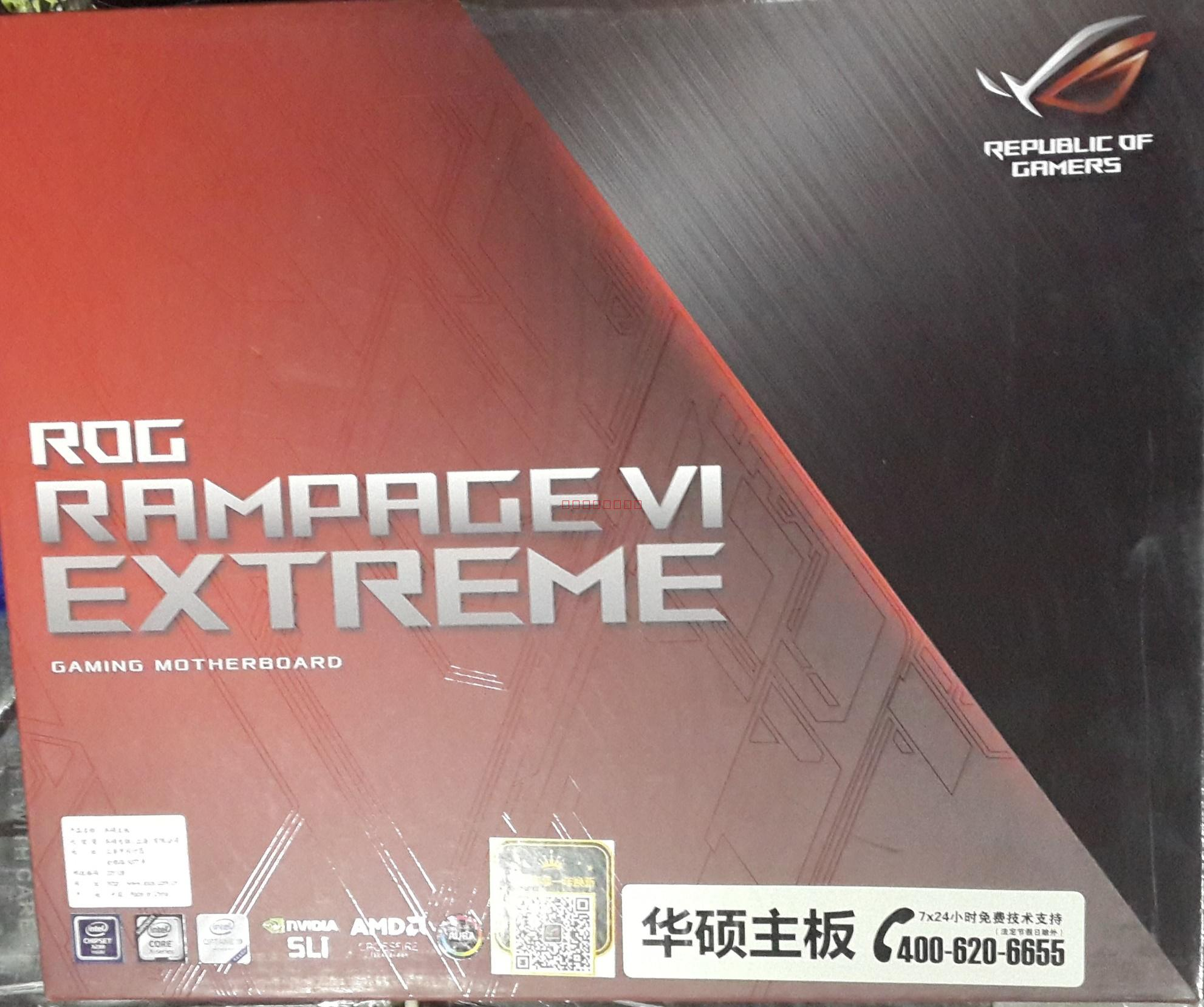 ASUS ROG RAMPAGE VI EXTREME R6E <font><b>X299</b></font> Mainboard Support LGA2066 DDR4 Dual M.2 Extension Card Desktop Motherboard image