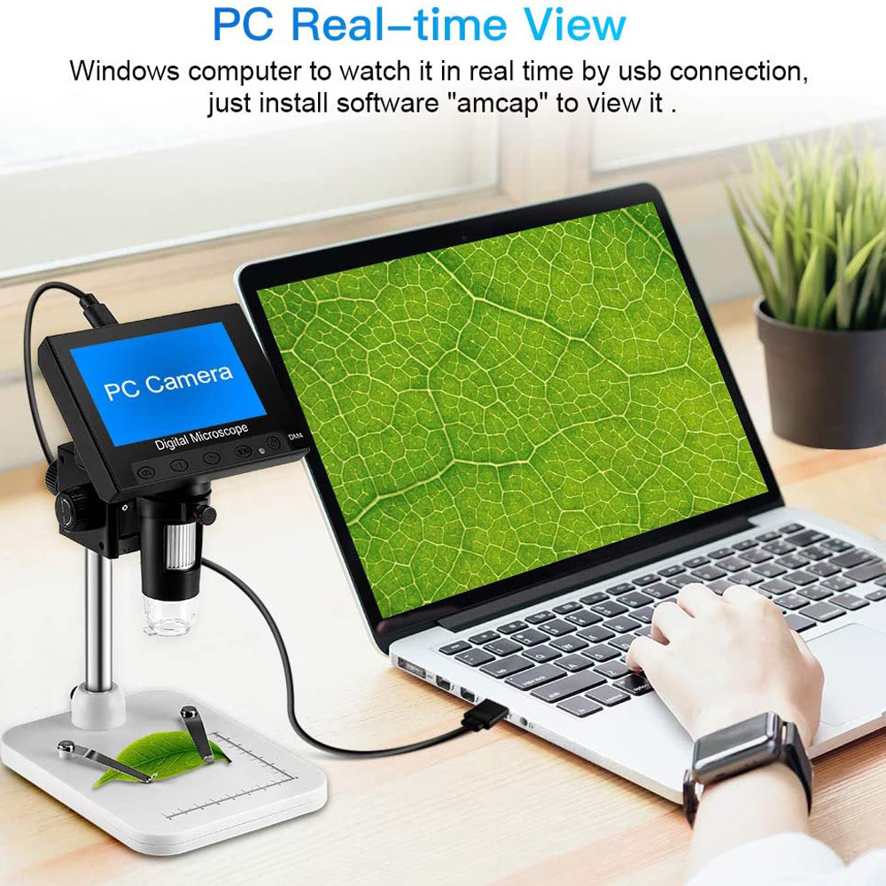 professional 1000X Mega Pixels 4 3 inch LCD Digital USB Microscope Microscopio Magnifier Electronic Stereo USB Endoscope Camera