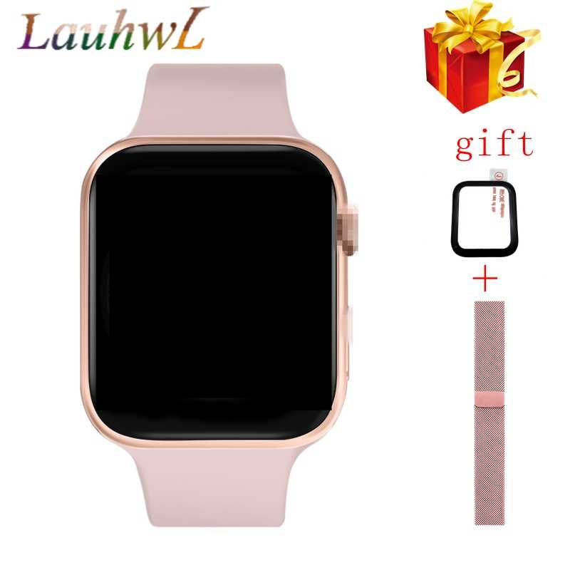 Pria Bluetooth Smart Watch IWO 12 1:1 SmartWatch 44Mm/40Mm Case untuk Apple IOS Android Ponsel Watch detak Jantung EKG Pedometer