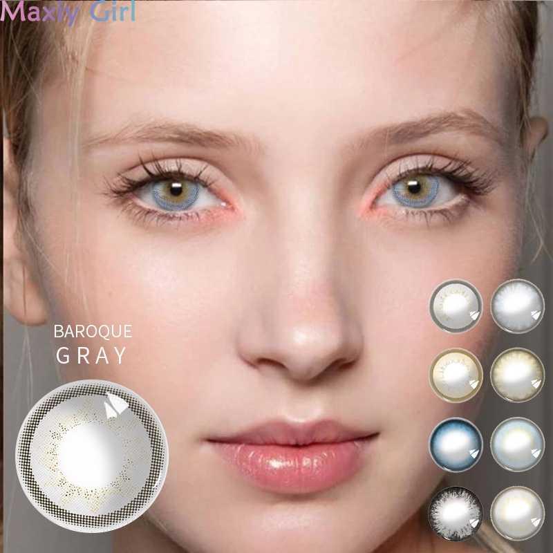 2 szt./1 para oczu kolorowe soczewki kontaktowe piękne źrenice dla seksownych kobiet soczewki kosmetyczne naturalny wygląd wygodne