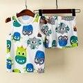 Пижамный комплект без рукавов для маленьких мальчиков, Детская Пижама, пижама с единорогом для девочек, летняя Пижама для детей