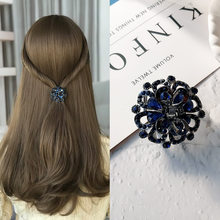 Hair Clip for Women Retro Fashion Black Crystal Bow Hairpin Luxurious Geometric Charm Hair Pins Jewelry Accessories Wholesale