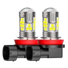 2 adet H11 H8 P13W 9006 HB4 9005 HB3 yüksek kaliteli 3030 LED otomatik sis lambası yüksek güçlü araba Anti sis lambası ampul sis lambaları 6000K beyaz