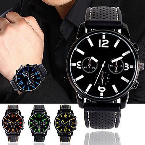 Life Waterproof Men Clock Sport Watch Men Fashion Simple Design Numeral Dial Silicone Band Analog Quartz Watches часы женские