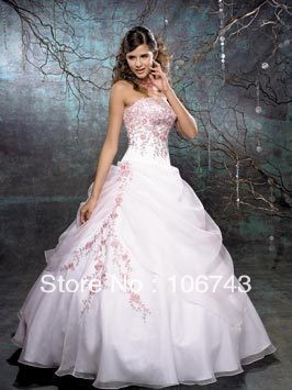 Free Shipping Celebrity Dress 2016 New Design Ball Gown Organza Hot Sale Sequins Embroidery Wedding Dresses Bridal Gowns