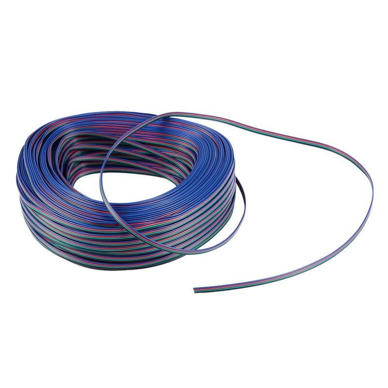 Connecteur d'extension rvb à HHO-4 broches cordon de câble 4 fils 3528/5050 RGB LED mètre de lumière de bande: 100M