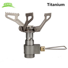 BRS Brs-3000t only 25g Portable Mini Camping Titanium Stove outdoor Gas Stove Survival Furnace Pocket Picnic Cooking Gas Burner