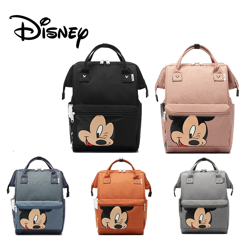 Mickey Mouse Backpack Waterproof Multifunctional Large Capacity Diaper Bag Cartoon Maternity Mummy Backpack Disney Kids Handbag