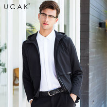 UCAK Brand Jacket Men Business Casual Hooded Coat Men Clothes 2019 New Arrival Autumn Winter Mnes Jackets And Coats Pocket U8008