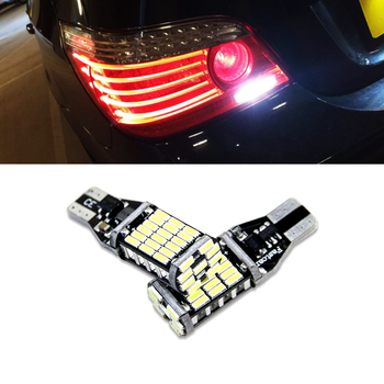 2x Canbus T15 W16W żarówki LED światła cofania 4014SMD samochodów LED tylna tylna lampa dla BMW serii 5 E60 E61 F10 F11 F07 Mini Cooper tanie i dobre opinie NEWM CN (pochodzenie) Klirens lights 12 v Jasne T15 W16W 920 921 912 DC12-24V 45SMD 800Lm T15-4014-45SMD Reverse Lights Backup Light